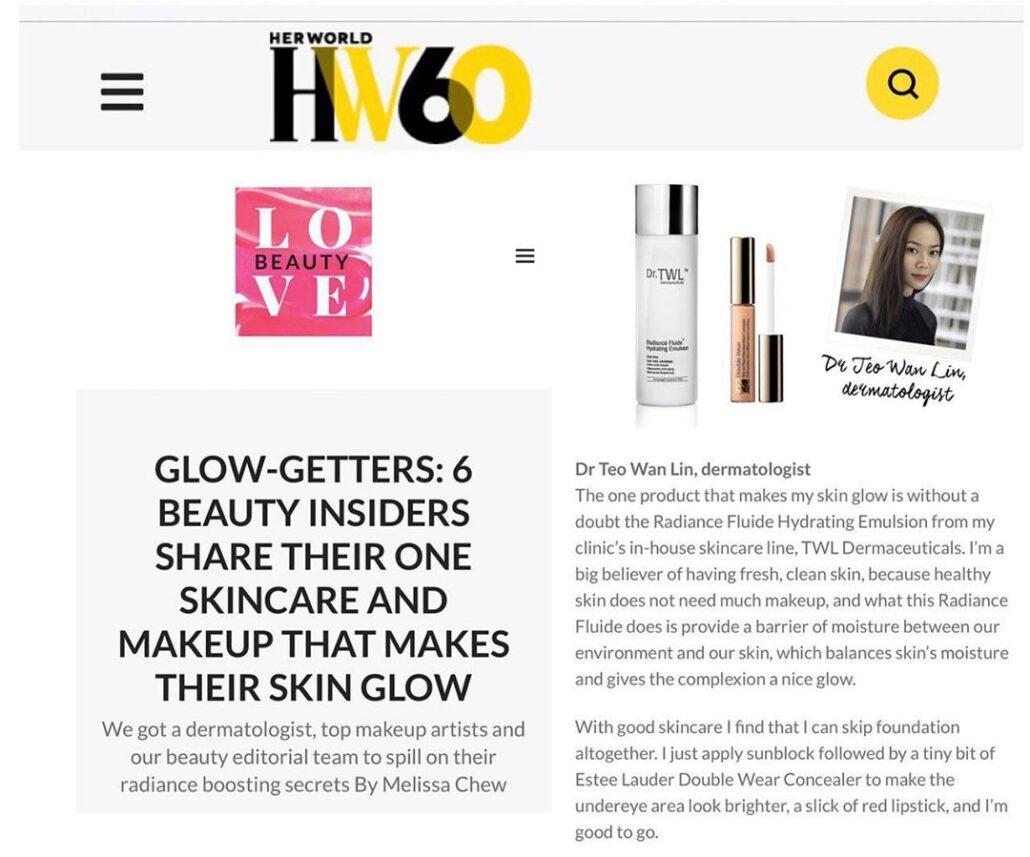 HerWorld Feature Radiance Fluide Dermatologist Moisturiser