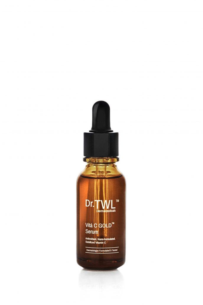 Stabilized vitamin C serum for sensitive skin