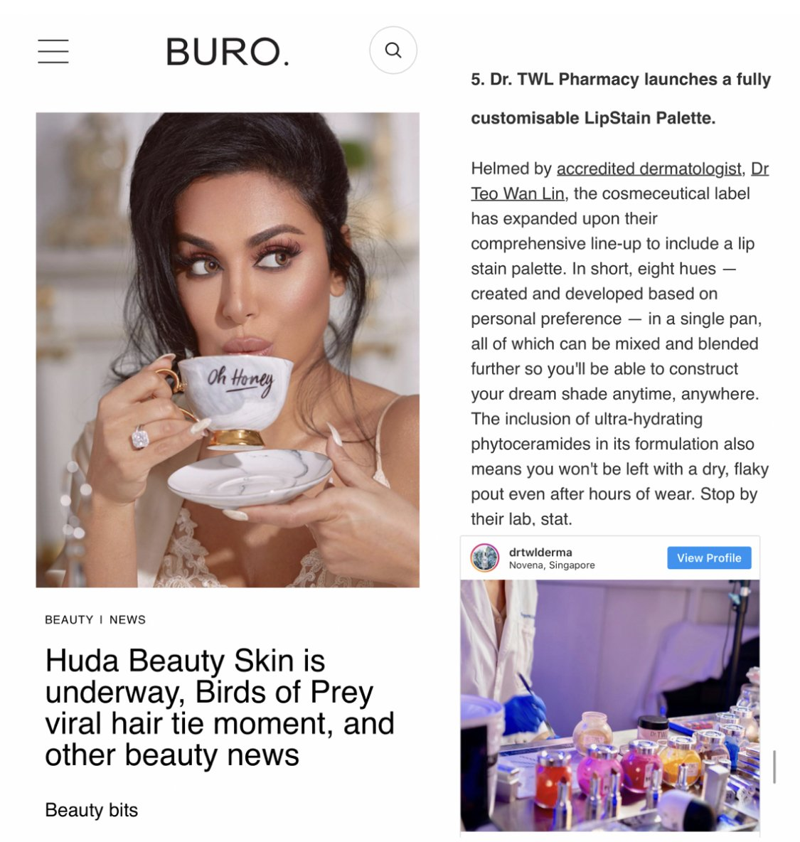 Buro Infinity Palette Feature