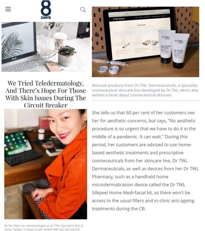 8days Teledermatology Feature Singapore Dermatologist
