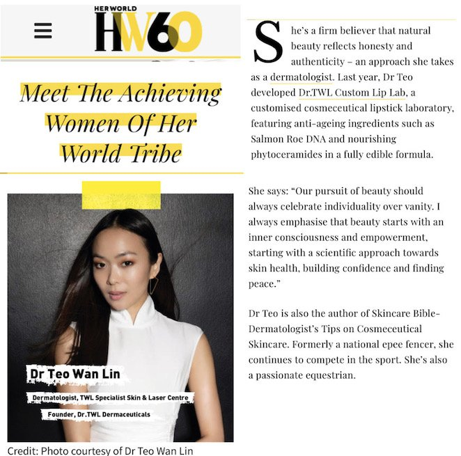Meet the Achieving Women of Her World Tribe - Dermatologist Dr Teo Wan Lin