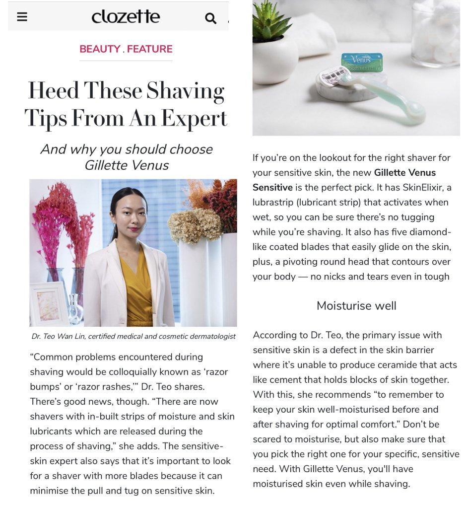 Dr Teo Wan Lin Gillette Venus Sensitive Skin Expert